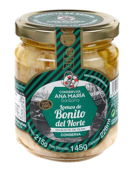Lomos de Bonito del Norte en aceite de oliva 228 ml