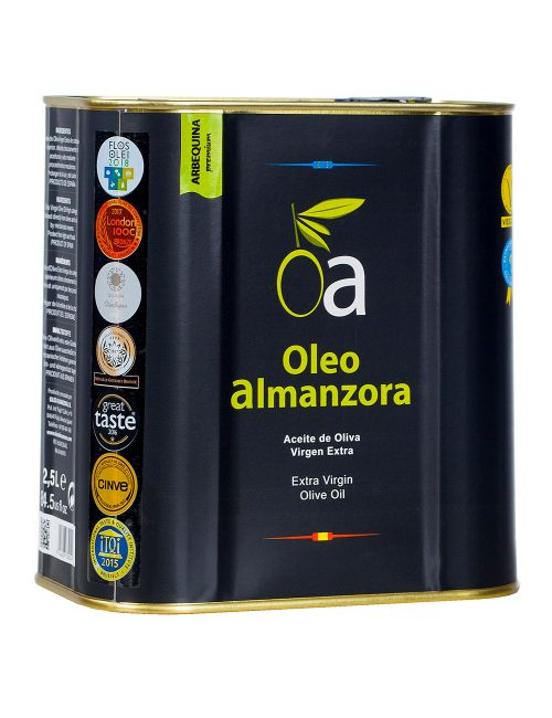 Aceite Oliva Virgen Extra Arbequina Premium Lata 2,5L.