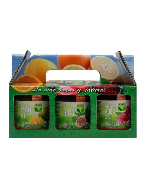 Pack Mermelada Ecológica Mango, Higo y Frambuesa con Sirope de Agave