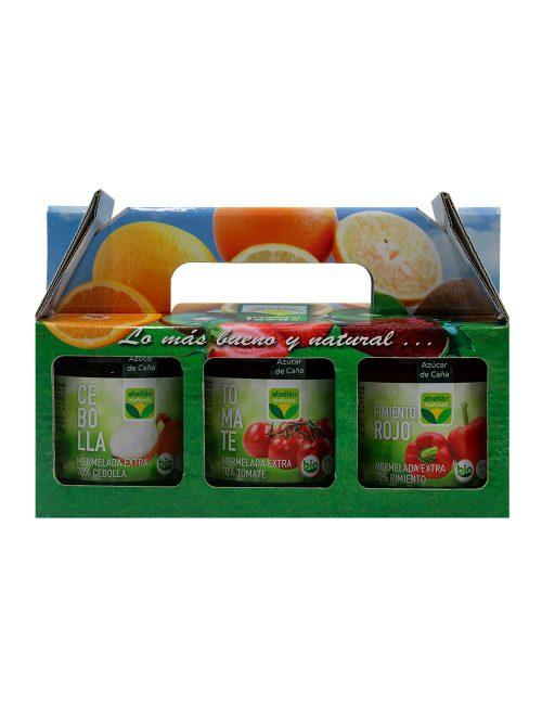 Pack Mermelada Ecológica Cebolla, Tomate y Pimiento Rojo con Azúcar de Caña
