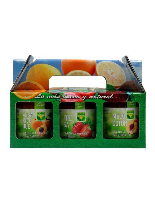 Mermelada Ecológica Albaricoque, Fresa y Melocotón con Stevia